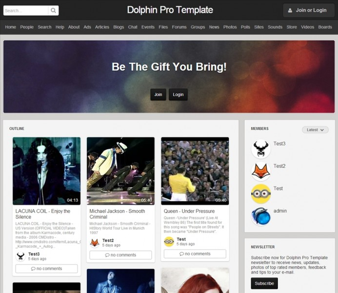 codecanyon professional dolphin pro template responsive on 10