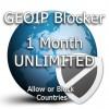 One month unlimited GeoIP Blocker Token