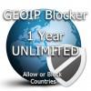 One year unlimited GeoIP Blocker Token
