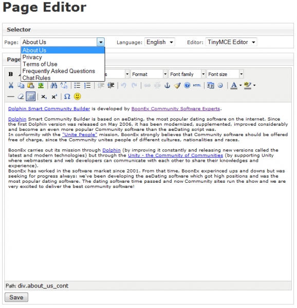 Page Editor :: paansystems