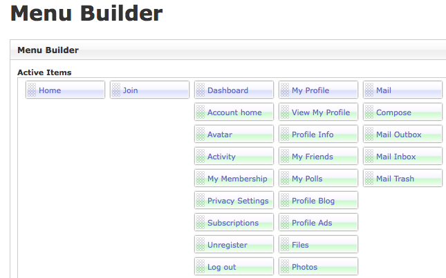 Navigation Menu Builder